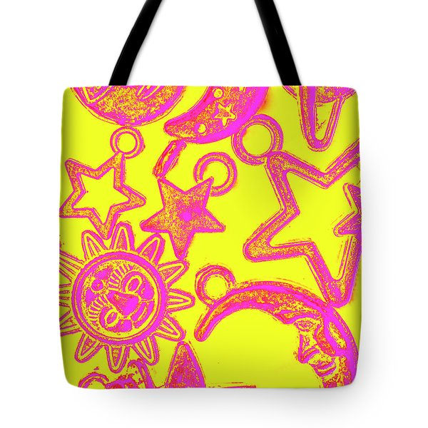 Comic Constellation Tote Bag