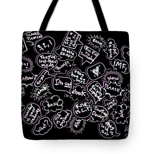 Comic Conversations Tote Bag