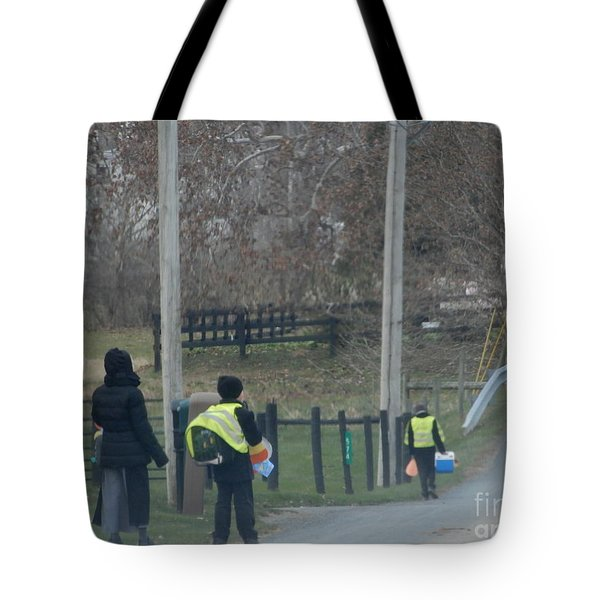 Coming Home From School Tote Bag