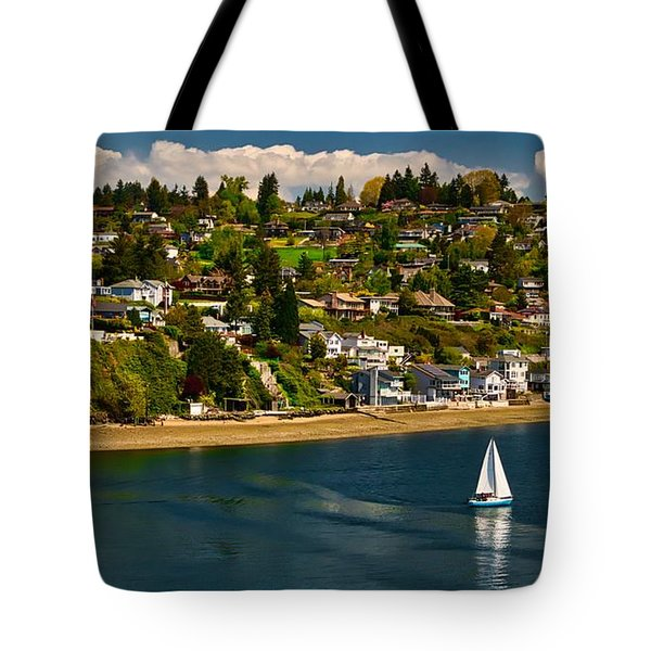 Commencement Bay,washington State Tote Bag