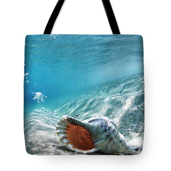 Conch Shell Bubbles Tote Bag