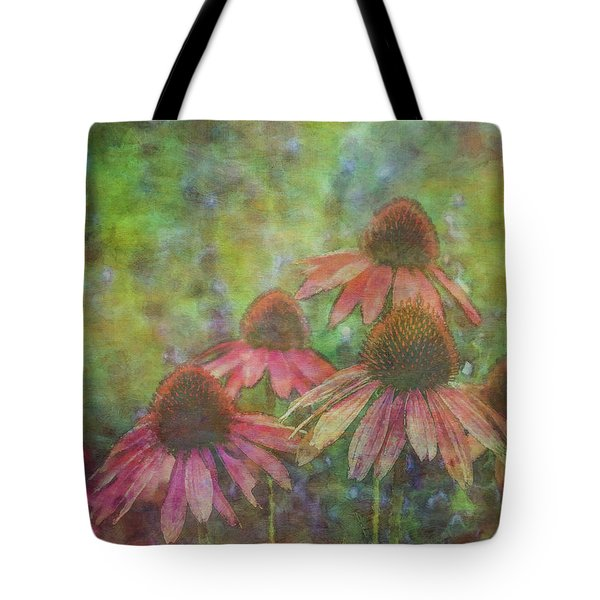 Coneflowers Among The Lavender 1667 Idp_2 Tote Bag