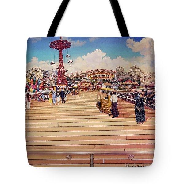Coney Island Boardwalk Pillow Mural #2 Tote Bag