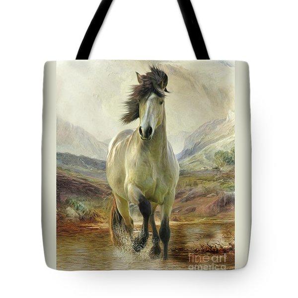 Connemara Pony Of The Moors Tote Bag