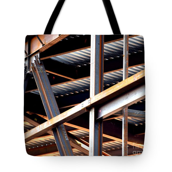 Construction Abstract Fragments Tote Bag