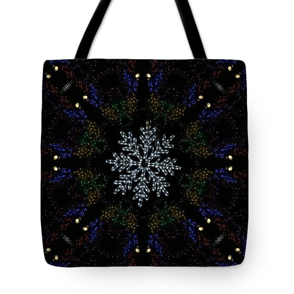 Continuous Christmas Lights Tote Bag
