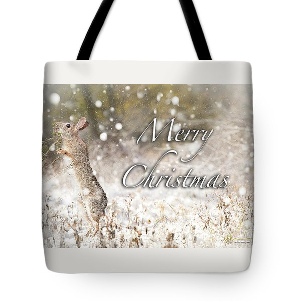 Conttontail Christmas Tote Bag