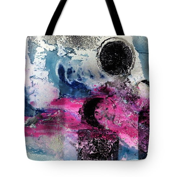 Tote Bag featuring the painting Convergence  by 'REA' Gallery