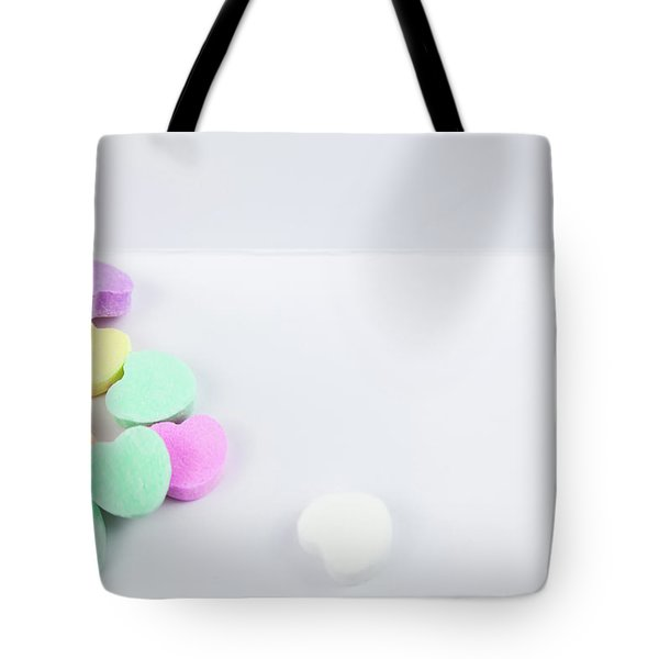 Conversation Hearts On A Notecard Tote Bag