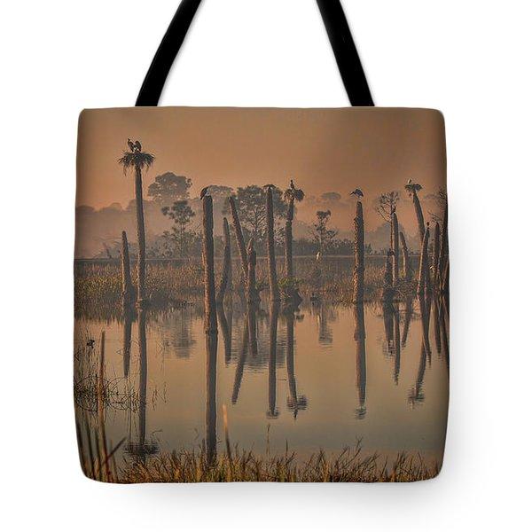 Cool Day At Viera Wetlands Tote Bag