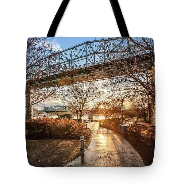 Coolidge Park Path At Sunset Tote Bag