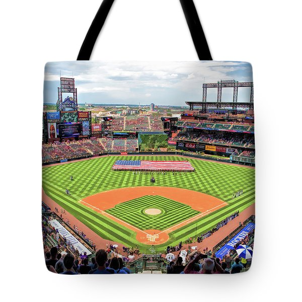 Coors Field Colorado Rockies Baseball Ballpark Stadium Tote Bag