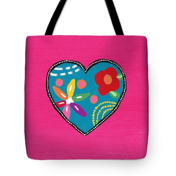 Corazon 2- Art By Linda Woods Tote Bag
