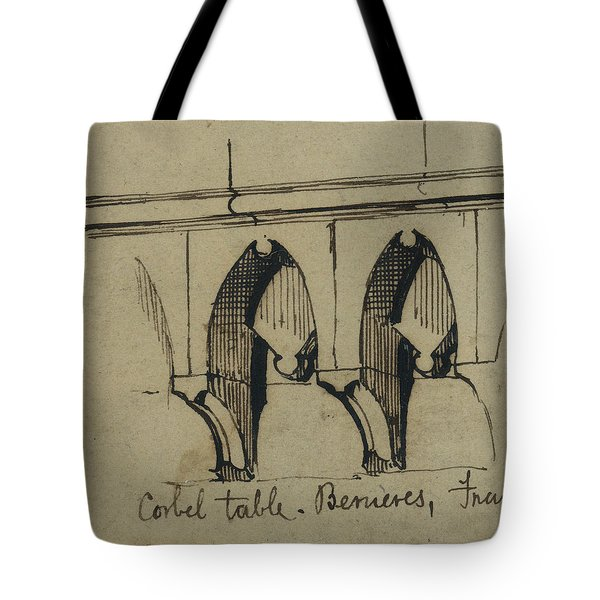 Corbel Table - Benieves, France Tote Bag