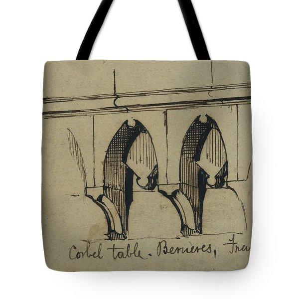 Corbel Table - Benieves, France Tote Bag