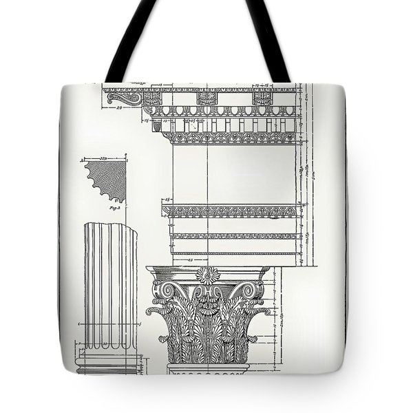 Corinthian Architecture Tote Bag