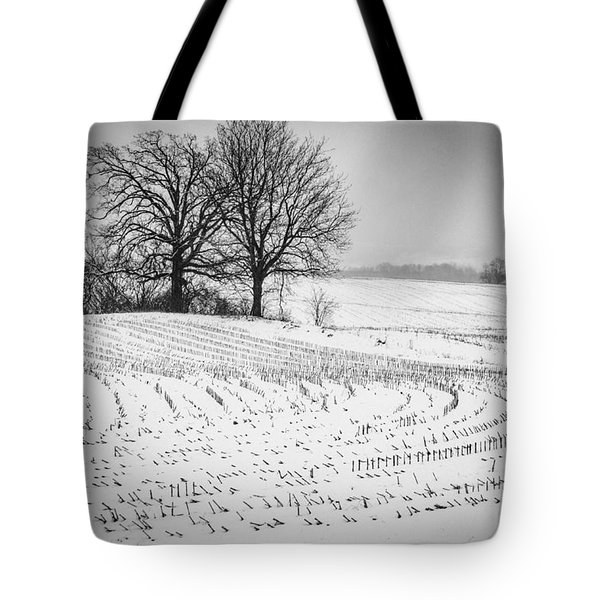 Tote Bag featuring the photograph Corn Snow by Kendall McKernon