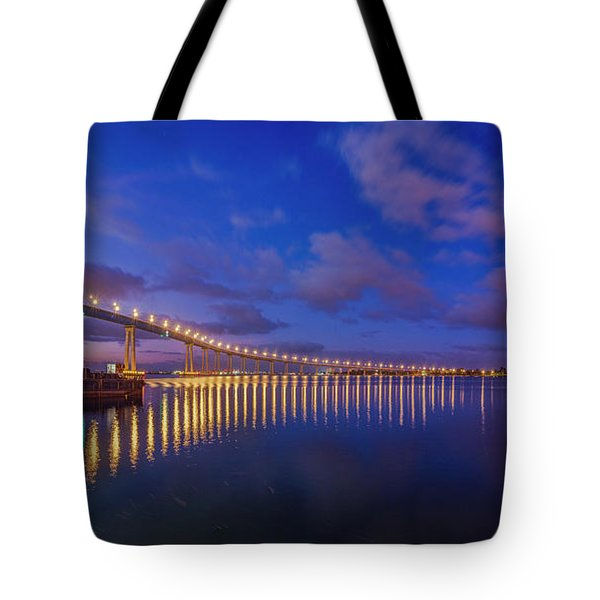 Coronado Bridge Sunrise - Panorama Tote Bag