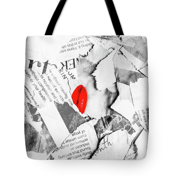 Cosmetic Collage Tote Bag
