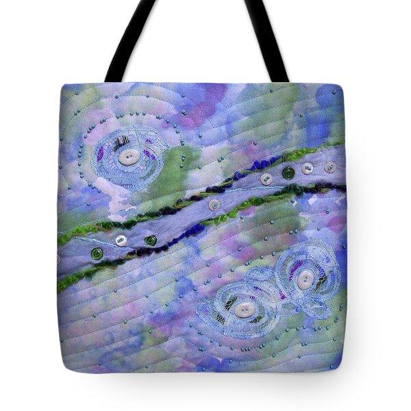 Cosmic Stream Tote Bag