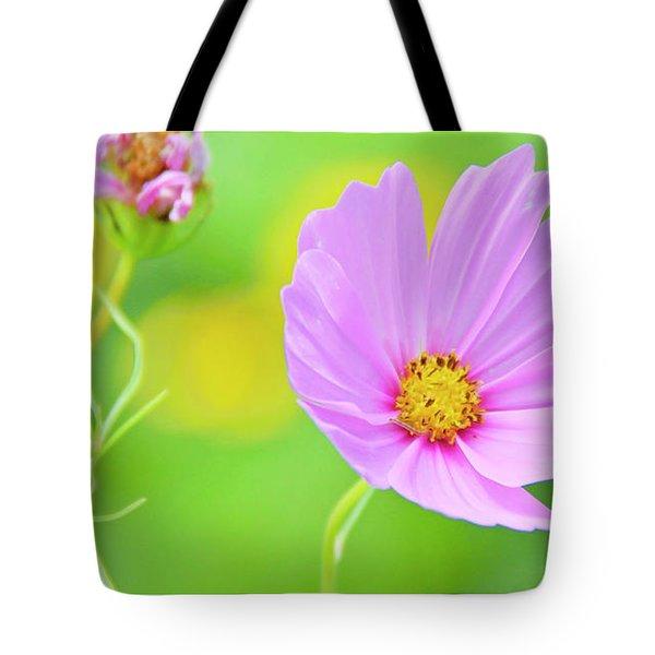 Cosmos Flower In Full Bloom, Bud Tote Bag