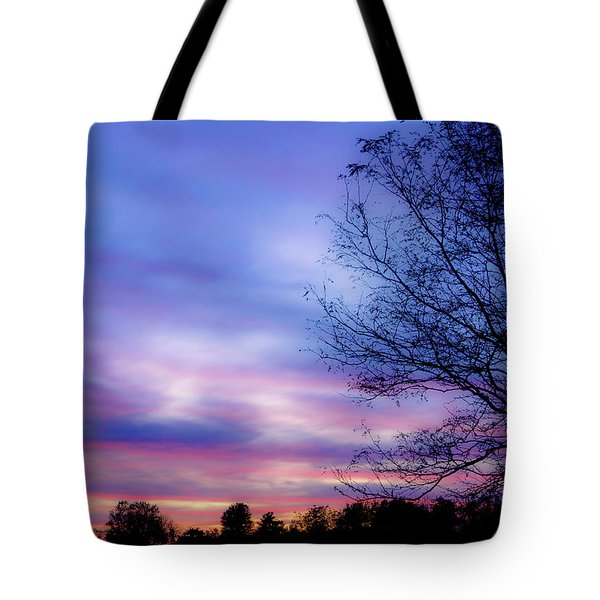 Cotton Candy Sunset In October Tote Bag