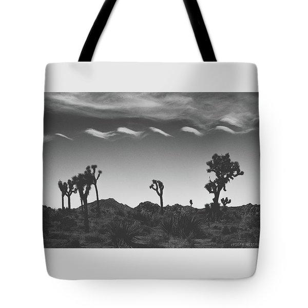 Cotton Sky On Joshua Trees Tote Bag