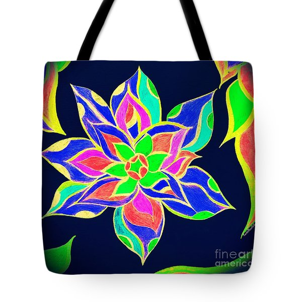 Tote Bag featuring the mixed media Couleur Epanouie by Rachel Maynard