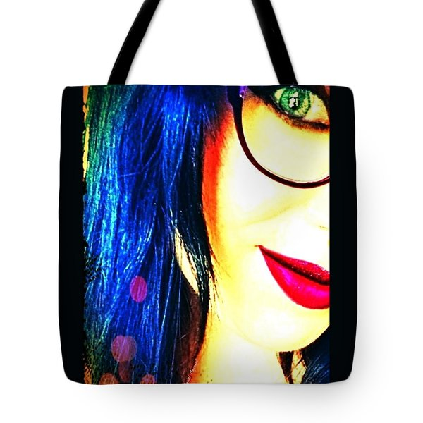 Tote Bag featuring the mixed media Couleur Magique by Rachel Maynard