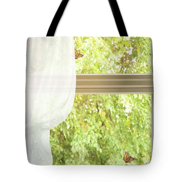 Country Cottage Window Tote Bag