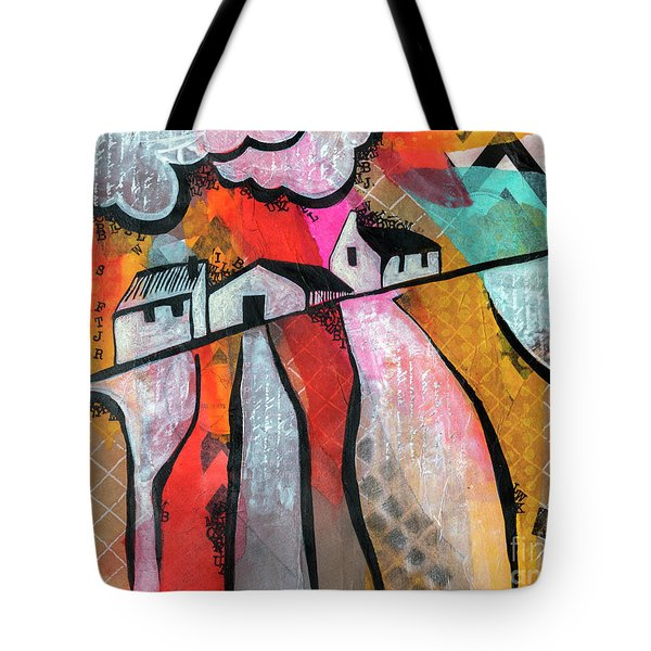 Tote Bag featuring the mixed media Country Life by Ariadna De Raadt