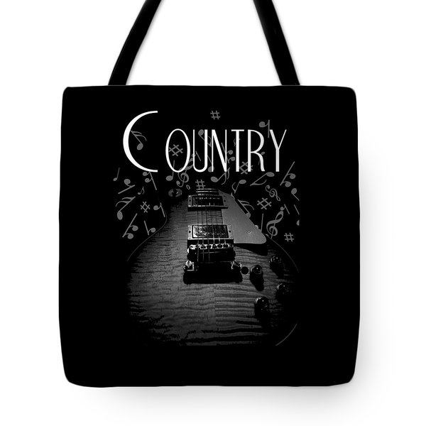 Country Music Guitar Music Tote Bag
