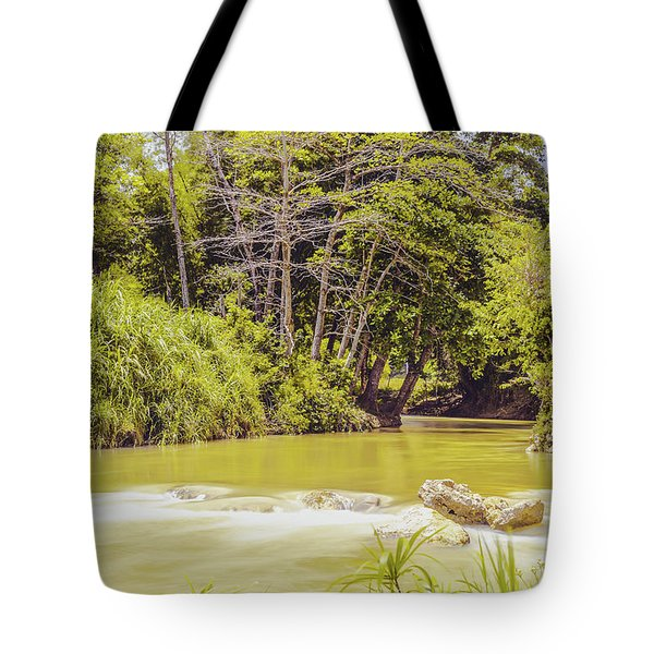 Country River In Trelawny Jamaica Tote Bag