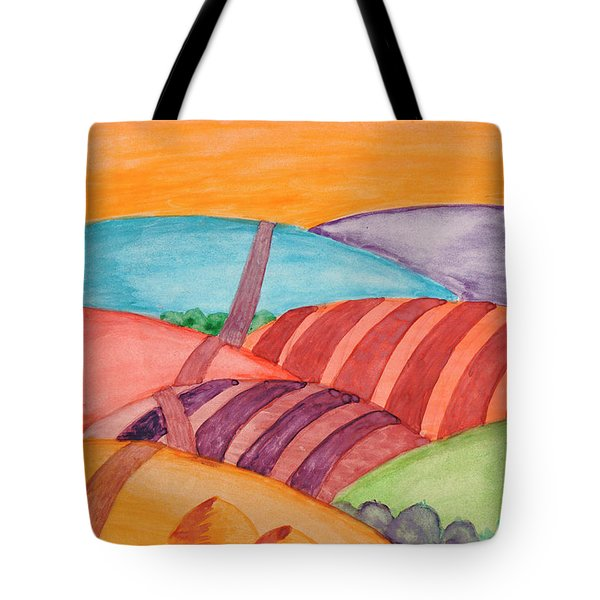 Tote Bag featuring the painting Countryside by Dobrotsvet Art