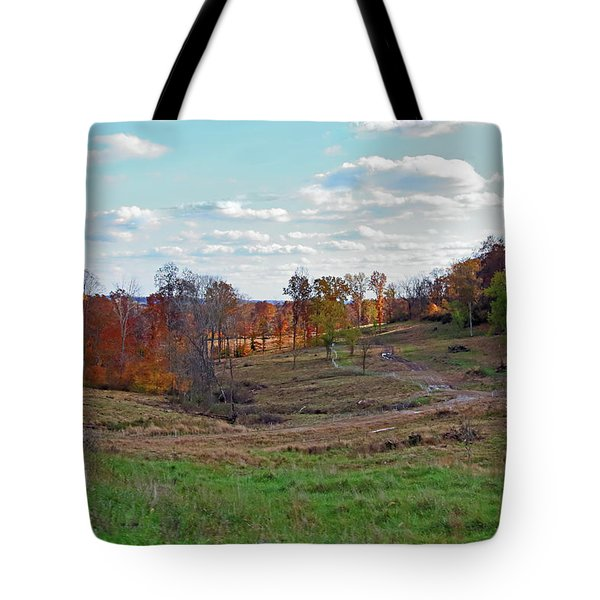 Tote Bag featuring the photograph Countryside In The Fall by Angela Murdock