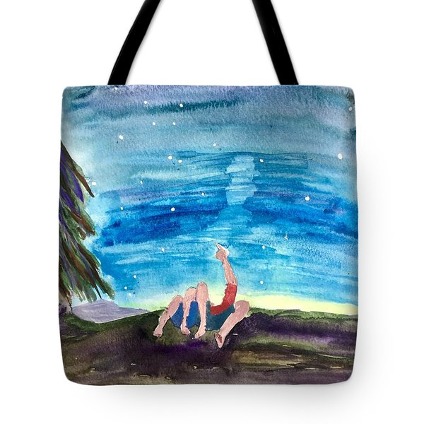 Couple Star Gazing Tote Bag