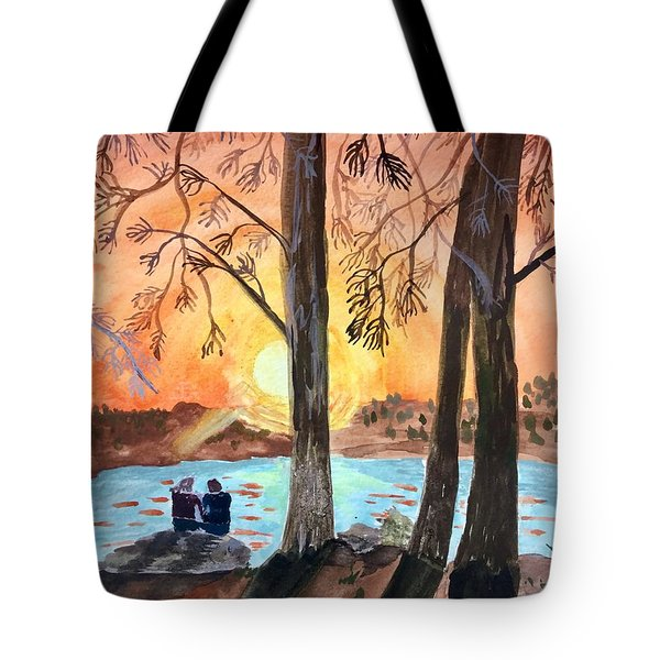 Couple Under Tree Tote Bag