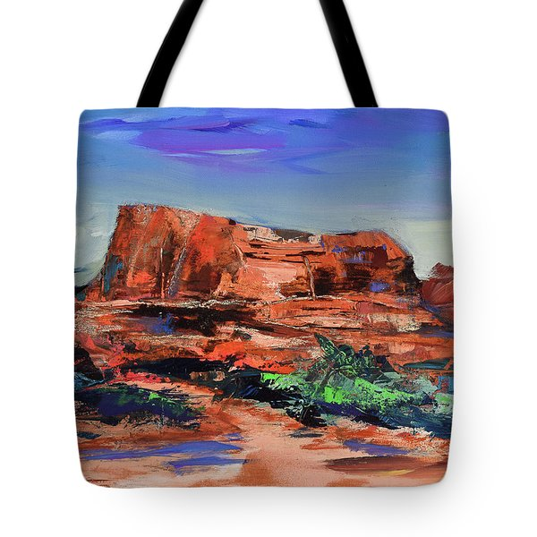 Courthouse Butte Rock - Sedona Tote Bag