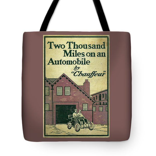 Cover Design For Two Thousand Miles On An Automobile Tote Bag