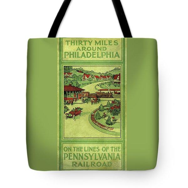 Cover Of Thirty Miles Around Philadelphia Tote Bag