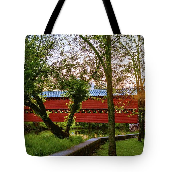 Covered Through Tree Tote Bag