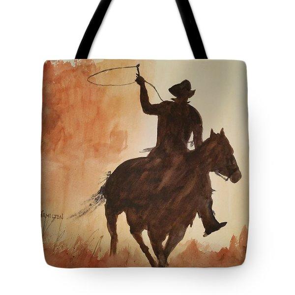 Cowboy Hero Tote Bag