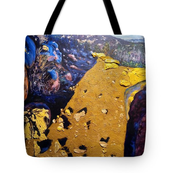 Tote Bag featuring the painting Cowles Mountain by Ray Khalife