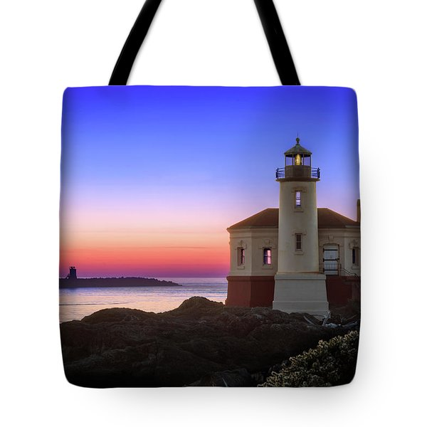 Crab Boat At The Bandon Lighthouse Tote Bag