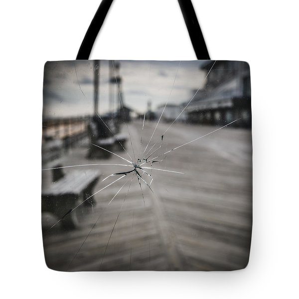 Tote Bag featuring the photograph Crack by Steve Stanger