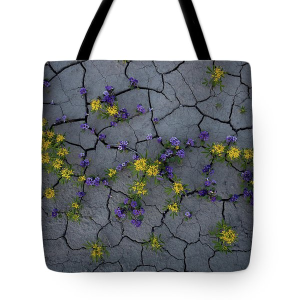 Cracked Blossoms Tote Bag