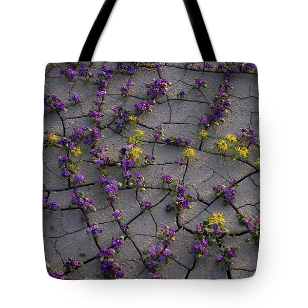 Cracked Blossoms II Tote Bag