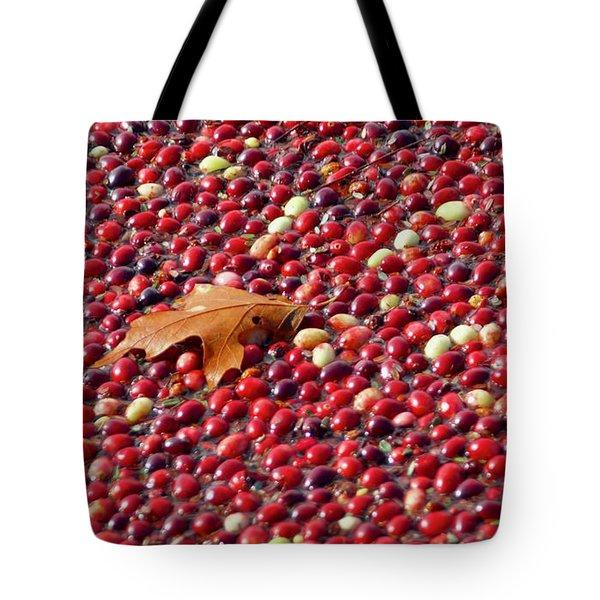 Cranberry Season Tote Bag