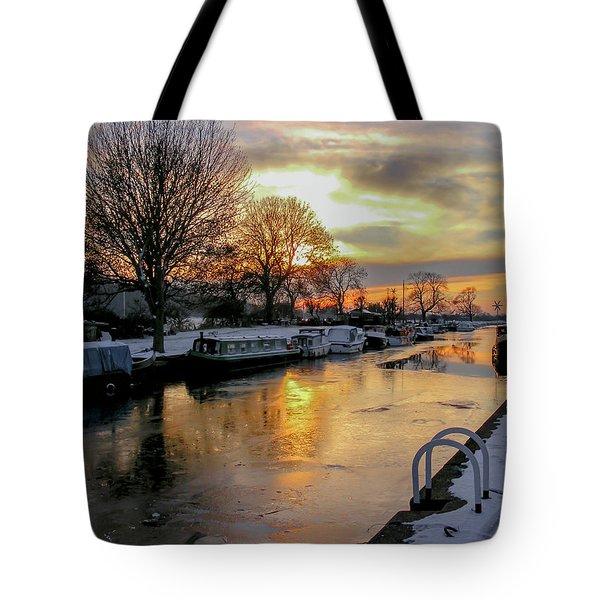 Cranfleet Canal Boats Tote Bag
