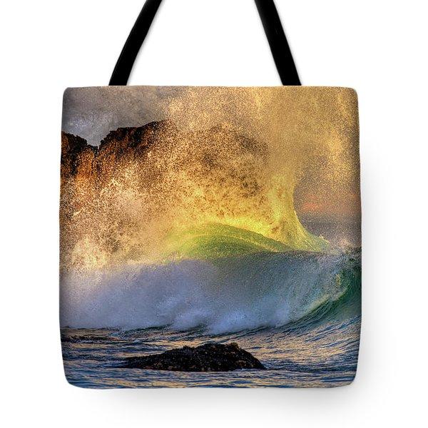 Crashing Wave Leo Carrillo Beach Tote Bag